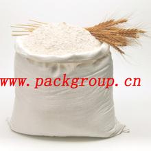 50kg pp woven flour sacks virgin material milky white color size 60x90cm