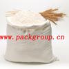 50kg woven polypropylene flour bags wheat flour sacks virgin material milky white color size 60x90cm