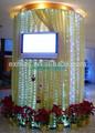 hotal de interior de la pared led polo colgar las luces de la decoración de la boda