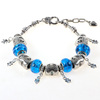 Latest Design Authentic Murano Bracelet with Charms and Lobster Clasp
