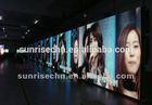 Sunrise hot sale advertising led TV screen DIP p10,p16,p20mm ali led indoor display full vedio