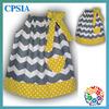 Fashion Cotton Chevron Pillowcase Dresses Yellow Polk Dot Sweet Princess Girl Pillow Case Dress