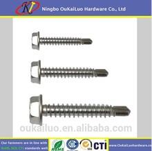 China made high quality Teks #12-2 3/4 inch hex head self driling screws for concrete