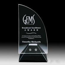 2014 new design custom glass trophy