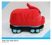 25 red custom plush train for kids