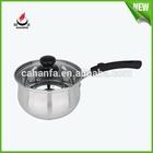 16/18# Straight shape stainless steel sauce pot/sauce pan