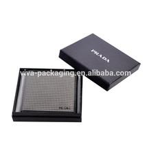 black paper wallet box
