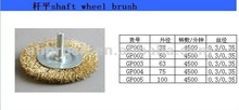 high quality copper steel wire brush/ grinding abrasive brush/ cooper wire brush
