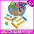 2014 bloque de madera de equilibrio de los niños juguete del juego, los niños divertido juguete de equilibrio del juego, juguete educativo del bebé de madera de juguete de equilibrio w11f035 del juego