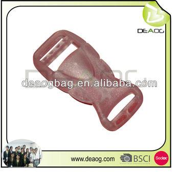 Plastic adjustable blue buckle golf accessory bag