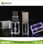 Hot sale promotional, custom, brand crystal usb flash drive 16GB with data, printing logo service