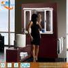 Hot-sale illuminated PVC white plastic bathroom mirror cabinet with lights