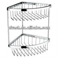 bathroom wire hanging corner shelf basket for bathroom