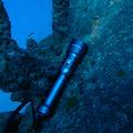 poderosa liga de alumínio de carregamento sem fio levou lanterna subaquática lanterna choque