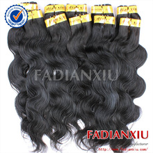 Professional hair puff virgin brazilian and peruvian hair of body wave