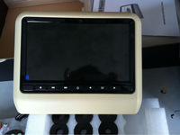 9 inch car headrest dvd player with wireless game pad