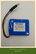 new design rechargeable lithium-ion battery 5v 6000 mah for handheld device