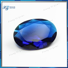 Hot Magic Fancy Brilliant HighestQuality Large Size Princess Cut Rectangle Loose Artificial Blue Crystal Glass Diamond Gemstones