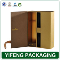 2014 top quality bottle leather wine carrier gift box