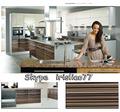 المطبخ مع الأبواب الزجاجية uv024 خزائن الحائط