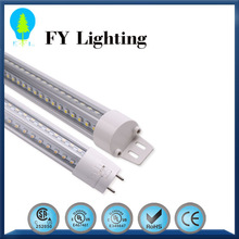 Epistar smd2835 UL cUL certified 240 degree beam angel 8ft 120lm/w CIR>90 external driver freezer led frosted tube lights