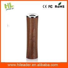 Bottom price top sell good wood power bank 2600 mah
