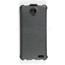 Concise design 100% perfect fit pu flip leather cases cover for alcatel one touch scribe hd ot 8008d