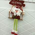 Wholesale colourful red hanging Christmas slogan decorations m48170