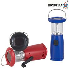 portable rechargeable emergency solar hand cranking dynamo lantern