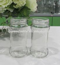 Glass coffee jars with plastic seal lids