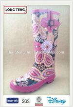 fashion rubber footwear rain shoes manufacturer