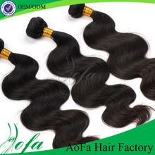 Full cuticle dyeable guangzhou aofa real 5a loose wave brazilian hair