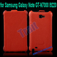 Genuine Leather Vertical Flip Cover for Samsung Galaxy Note GT-N7000 I9220