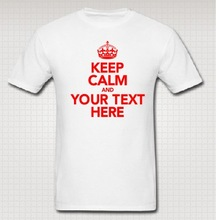 2014 Funny Custom Keep ClamWhite T Shirts Personalized Tee Printed