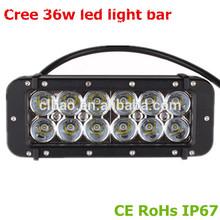 Heavy duty vehicle accessories 36w dual row Cree led light bar atvs cree light bar 36w