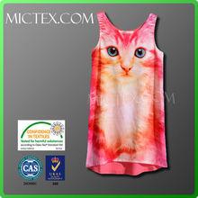 Sublimation print cat face dress OEM, OEKO-TEX,ISO9001