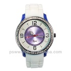 plastic geneva crystal women watch for promotion