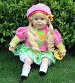 24 pouces. belle belle fille jouet de bébé poupée, chant poupées espagnoles jouets, beau bébé jouets de poupée de mode