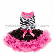 baby girl zebra petti dress perfect wild princess dress fashion and soft fluffy chiffon ruffle dress
