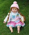 22 pulgadas caliente de la venta la muchacha encantadora del bebé de juguete de la muñeca, 24 casi real de la muñeca venta, Mirada real de muñecas del bebé de la venta