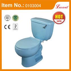 Lavatory Ceramic blue color design toilet bowl