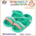 suela del zapato a punto de ganchillo zapatos de bebé