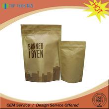 custom printing food grade material bag pouch paper bag for charcoal / kraft paper bags