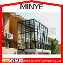 Balcony design aluminum lowe glass sun relaxed room