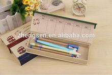 2014 hot new cardboard pencil box made in china
