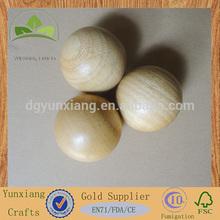 70mm wooden ball soild rubber wood ball for decorative