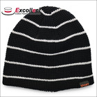 Lovely Knitted Custom Black Beanie Hat For Sports