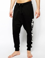 Lounge harem pants men with letter print to the side