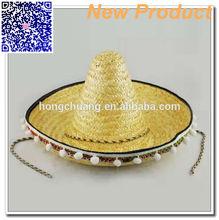 Large Brim Mexican Sombrero Straw Hat Wholesale