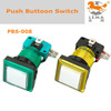 Game machine parts illuminated colorful red green yellow blue arcade switch push button